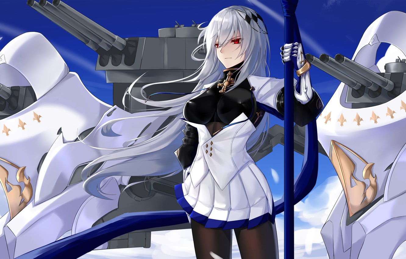Wallpaper Girl Background Anime Azur Lane Images For