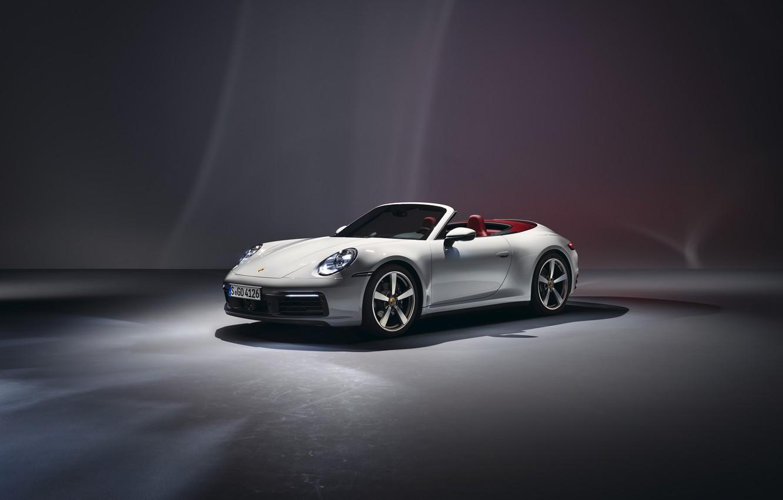 Photo wallpaper 911, Porsche, Carrera, Cabriolet, 2019