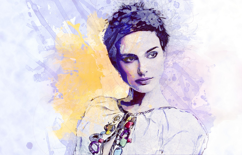 Photo wallpaper actress, art, hairstyle, Natalie Portman
