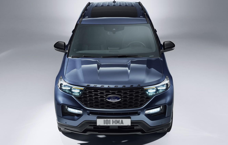Photo wallpaper Ford, Explorer, Plug-In Hybrid, 2019, ST-Line