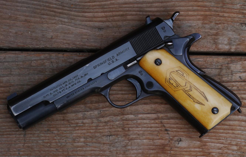 Photo wallpaper gun, weapons, gun, pistol, weapon, M1911, 1911, M1911 pistol, springfield armory