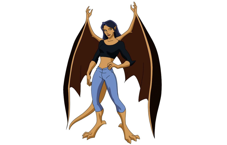Photo wallpaper wings, being, wings, the animated series, TV series, animated series, gargoyles, Gargoyles, Elisa Maza, ELISA …