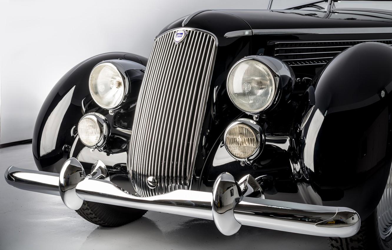 Photo wallpaper Convertible, Bumper, Lights, Classic, Lancia, Chrome, Classic car, Icon, 1936, Grille, Lancia Astura Cabriolet, Type …