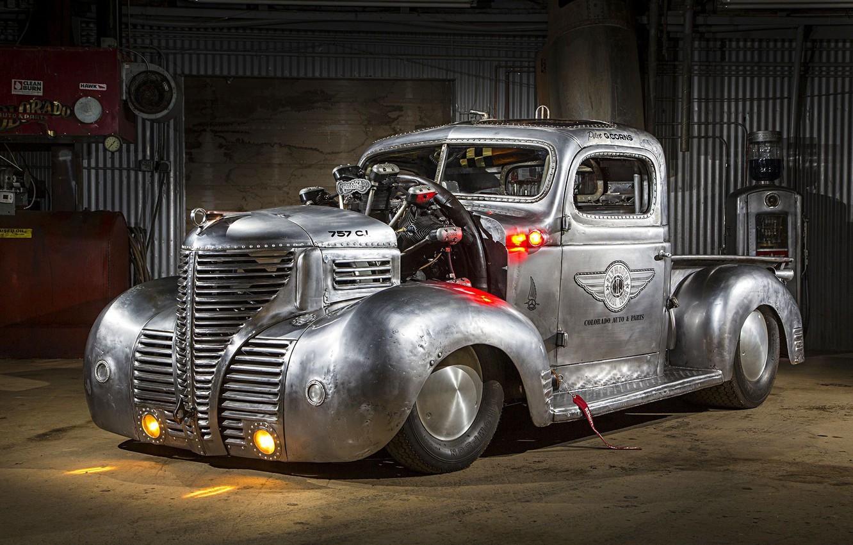 Photo wallpaper Plymouth, Truck, Custom