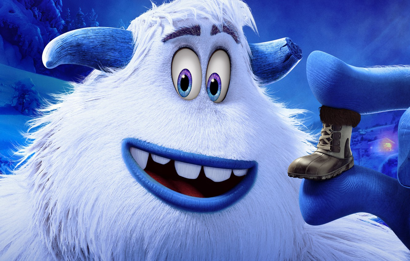 Wallpaper Eyes Look Smile Horns 2018 Shoes Yeti Bigfoot Smallfoot Smallfoot Images For Desktop Section Filmy Download