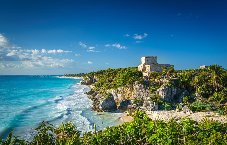 Photo wallpaper coast, Mexico, Tulum, Quintana Roo