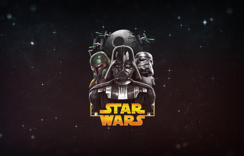 Wallpaper Minimalism Figure Star Wars Background Darth Vader Dark Side Space Art Stormtrooper Ari Death Star Boba Feet Lord Vader Images For Desktop Section Minimalizm Download
