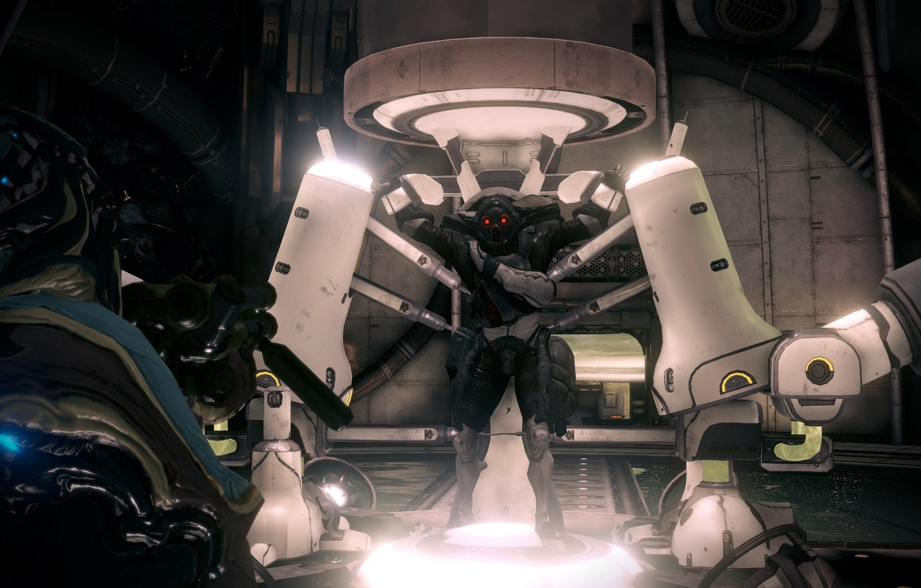 Photo wallpaper weapons, fiction, the game, soldiers, armor, Warframe