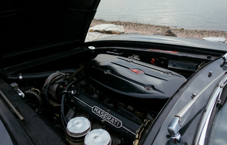 Photo wallpaper engine, black, Maserati, 1969, Roadster, spider, Ghibli Spider
