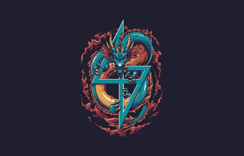 Wallpaper Fantasy Dragon Art Vector Background