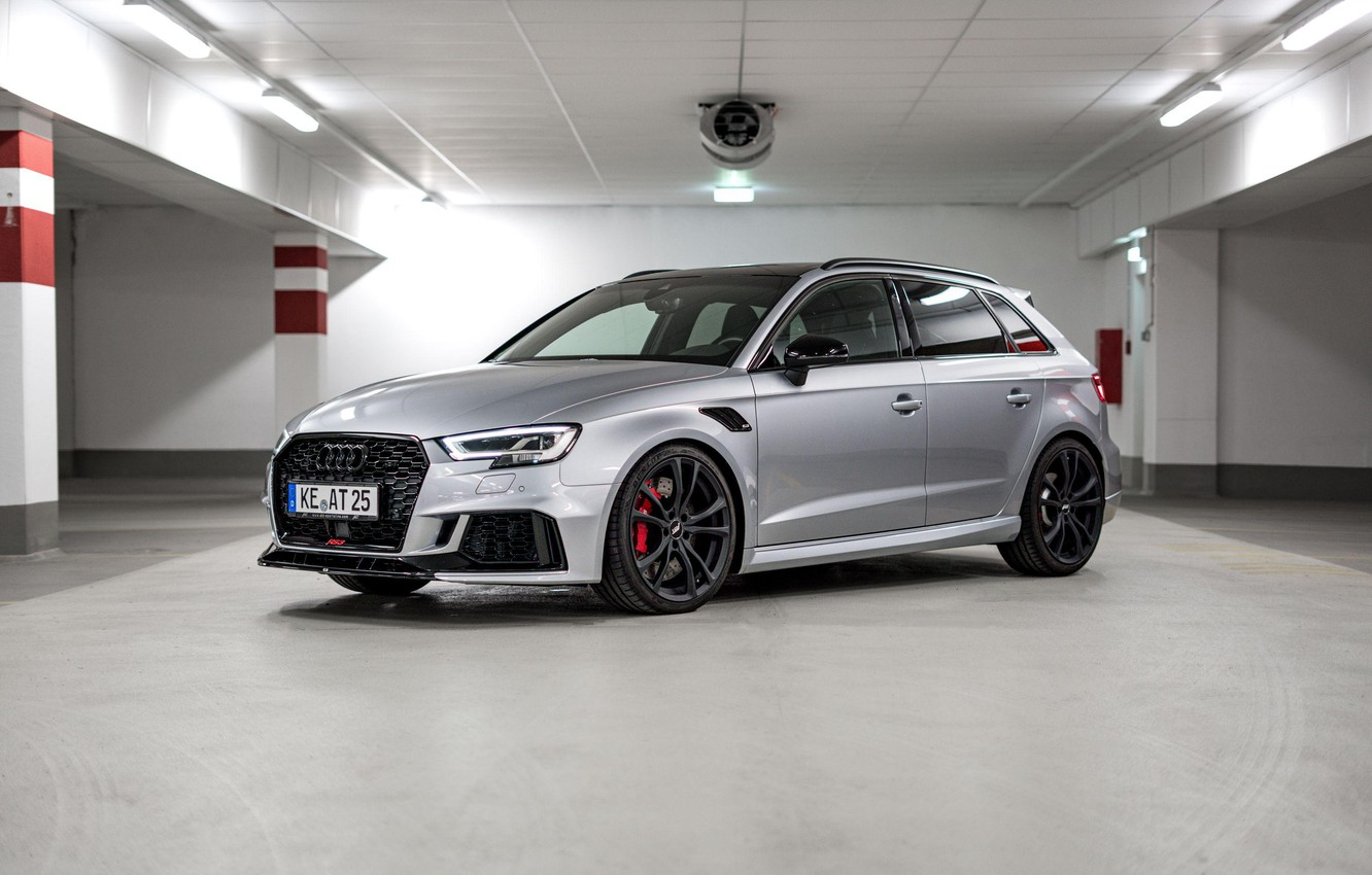 Photo wallpaper Sportback, Silver, Audi RS3