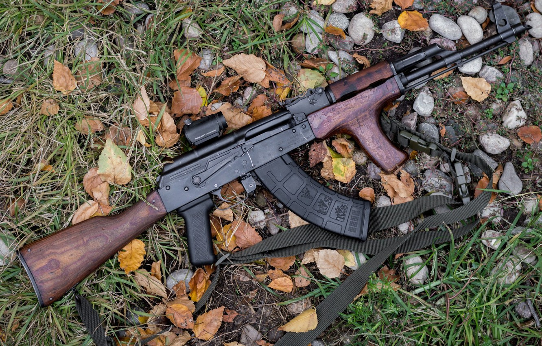 Photo wallpaper machine, AK-47, AKM, Kalash, Kalashnikov, AKM, assault Rifle, Kalashnikov