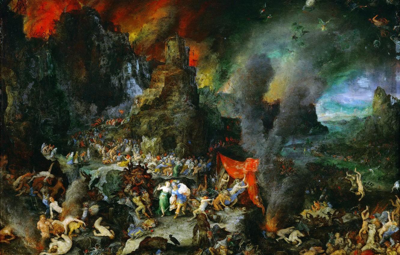Photo wallpaper Jan Brueghel The Elder, 1600-1605, Aeneas and the sibyl in hell