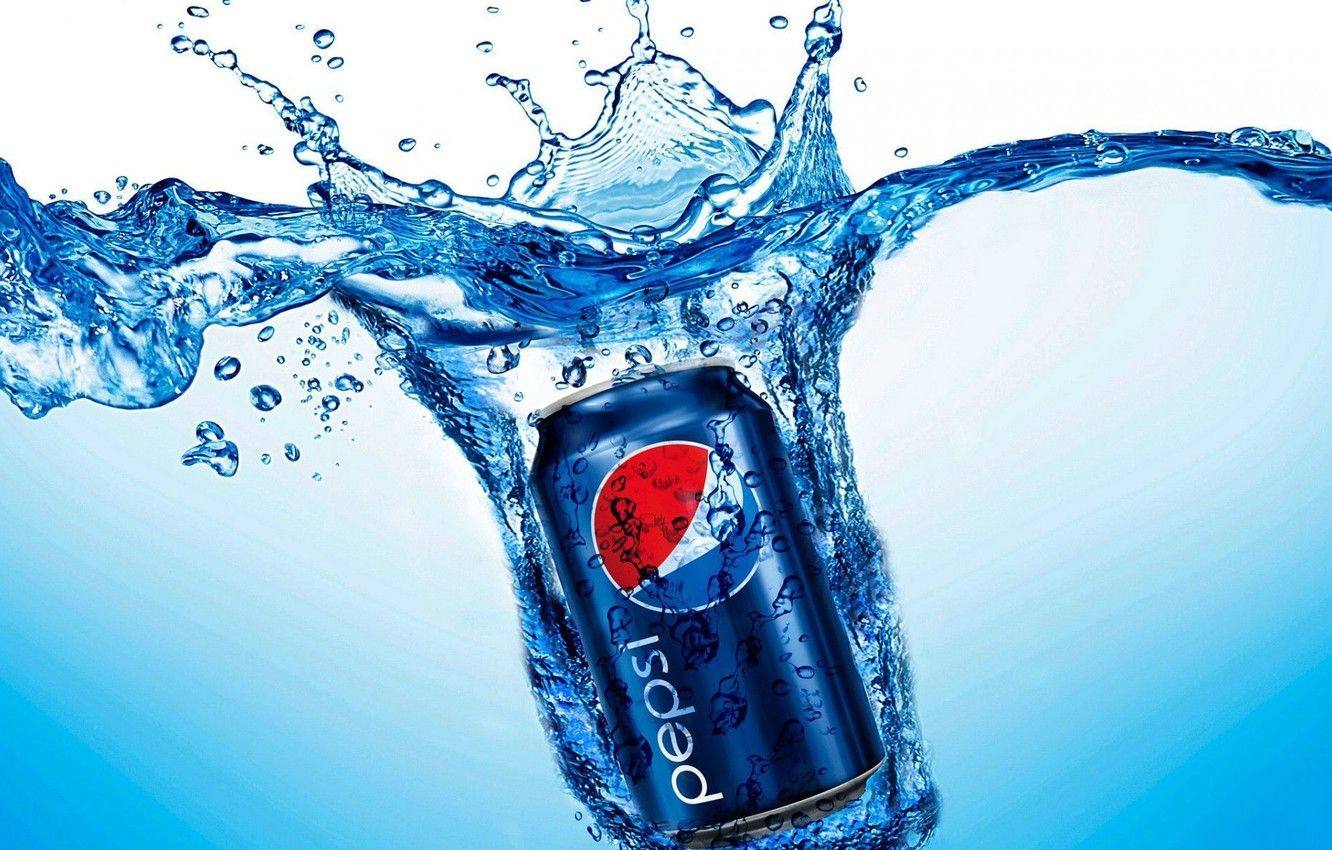 Photo wallpaper water, squirt, Bank, drink, cola, pepsi, Cola, drink, soda, Pepsi, pepsi-cola, Pepsi-Cola