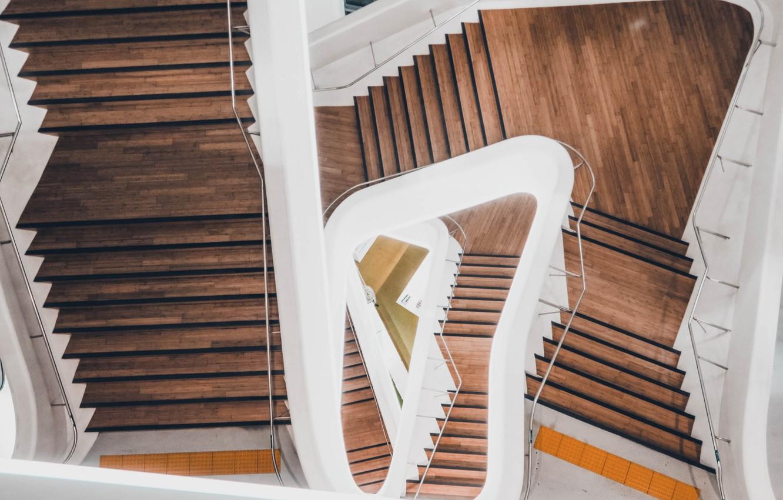 Photo wallpaper House, Design, Wallpaper, Spiral