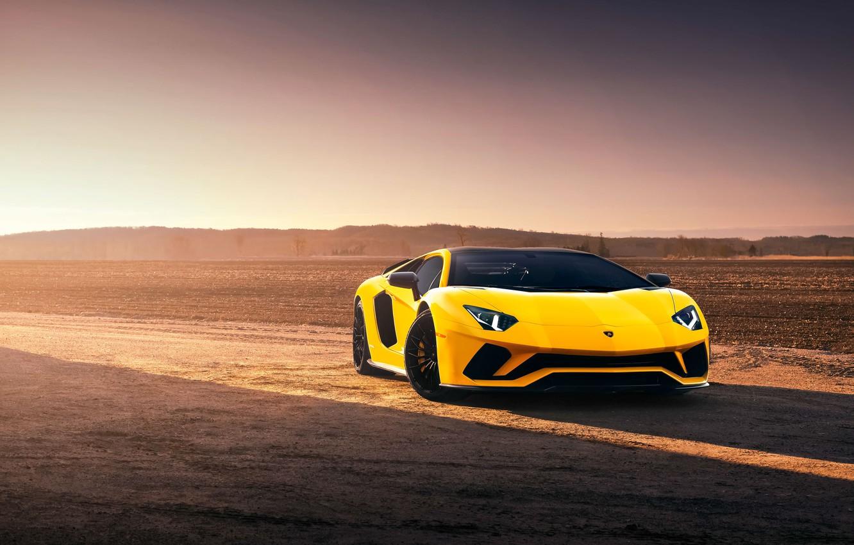 Photo wallpaper Lamborghini, supercar, 2018, Aventador, Aventador S, by Mark Hambach