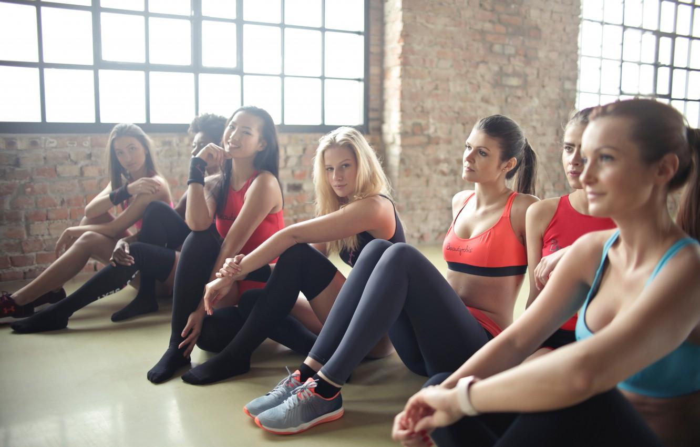 Photo wallpaper girls, fitness, class, aerobic