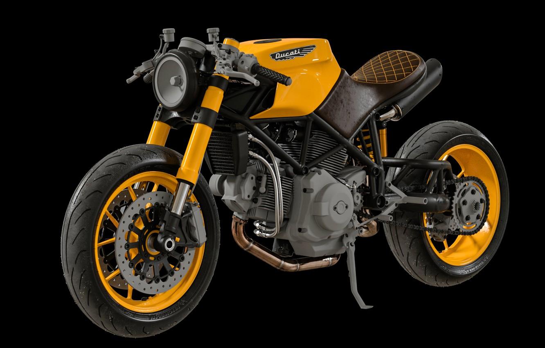 Photo wallpaper design, transport, motorcycle, composite, WIP - Ducati Custom Café Fighter