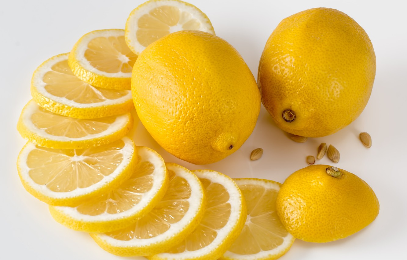 Photo wallpaper yellow, lemon, Food