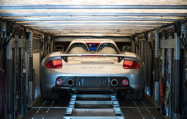 Photo wallpaper Car, Supercar, Porsche Carrera GT, Back