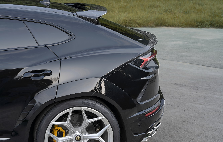 Photo wallpaper Lamborghini, the rear part, crossover, Urus, Novitec, 2019