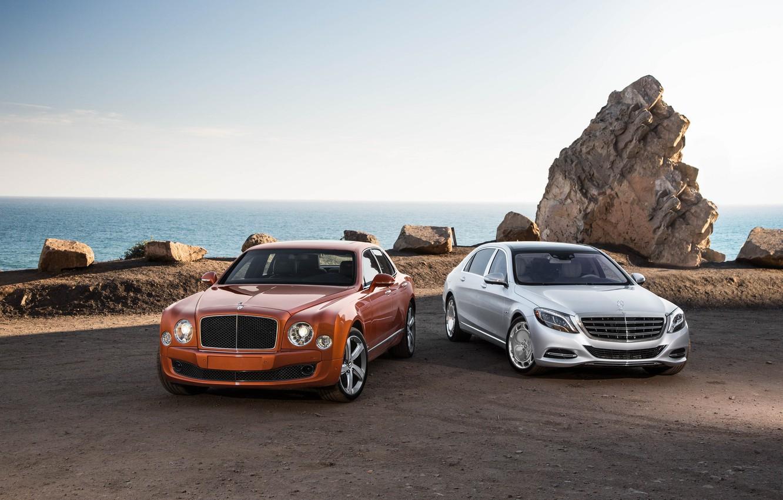 Photo wallpaper Bentley, Maybach, Luxury, W222, Mulsanne