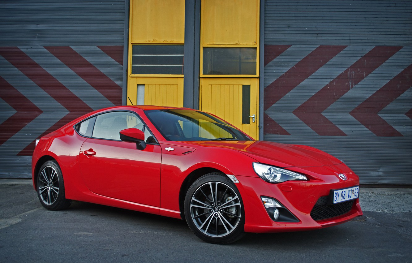 Photo wallpaper red, Toyota