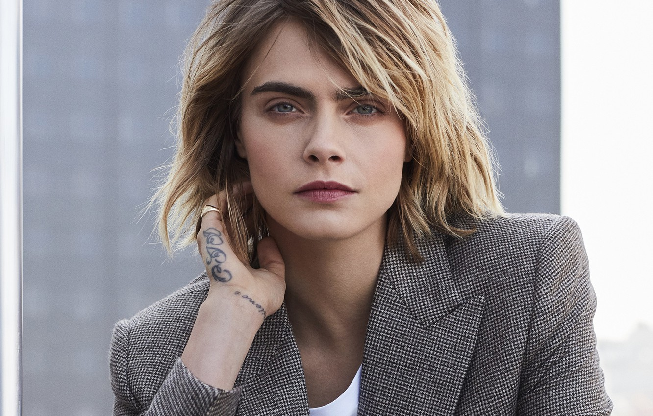 Wallpaper Look Girl Tattoo Jacket Vogue Cara Delevingne Images For Desktop Section Devushki Download