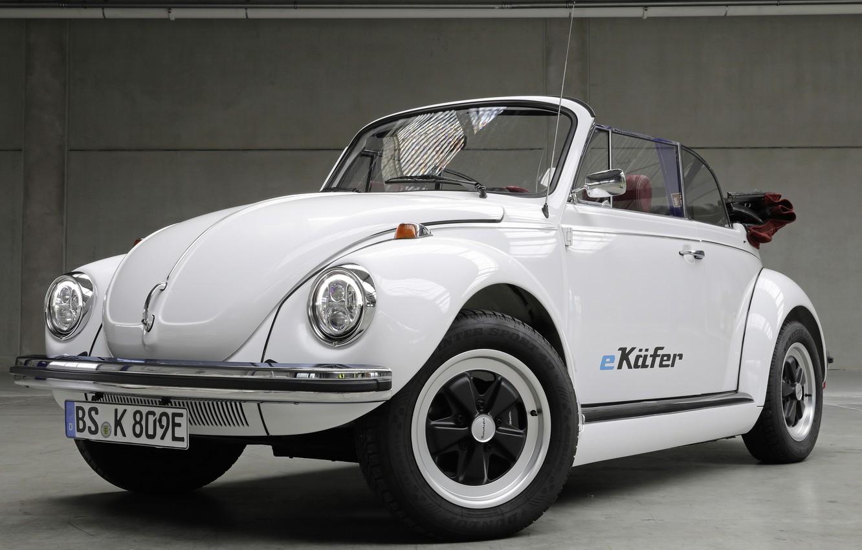Photo wallpaper Volkswagen, Elektrik Kar, Volkswagen e-beetle