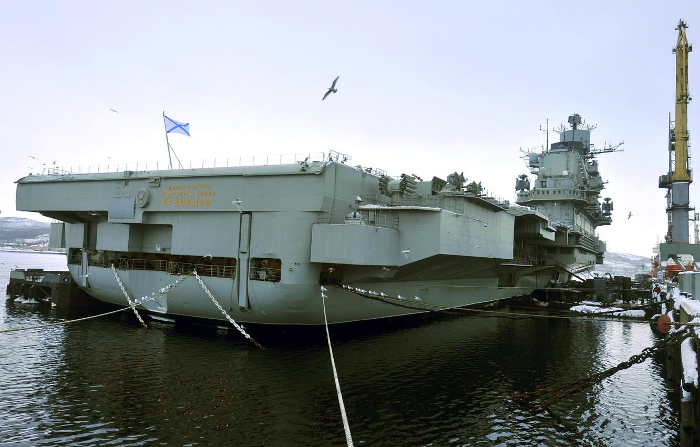 Photo wallpaper cruiser, heavy, aircraft carrier, Admiral Kuznetsov