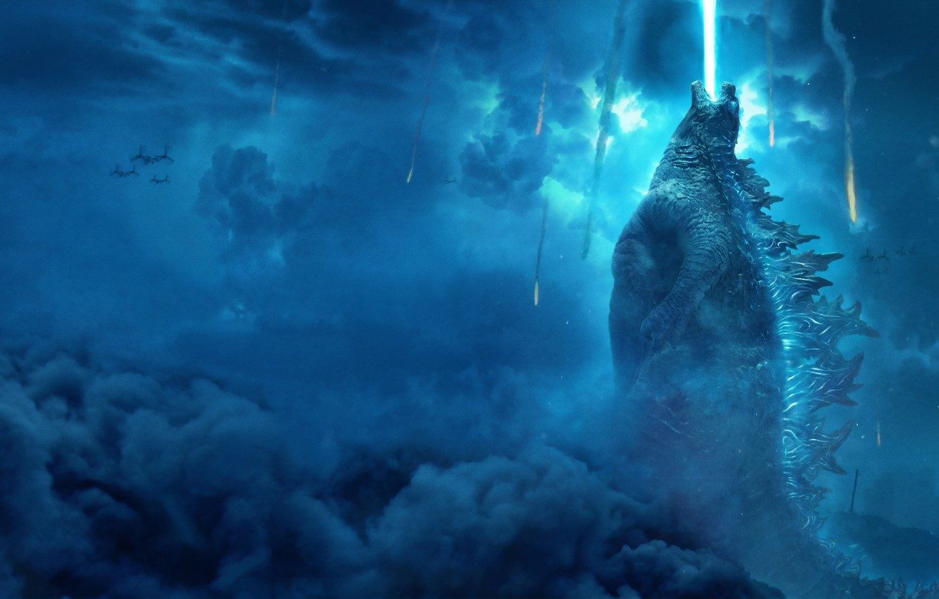 Wallpaper Action Fantasy Clouds Dragon Fire Monster Blue Lightning The Rain The Year Godzilla Rising Exclusive Legendary Images For Desktop Section Filmy Download