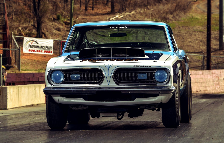 Photo wallpaper Race, Barracuda, Super Stock