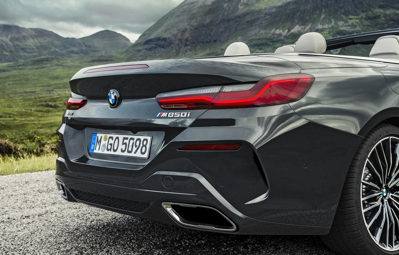 Photo wallpaper BMW, convertible, the rear part, xDrive, G14, 8-series, 2019, Eight, M850i Convertible