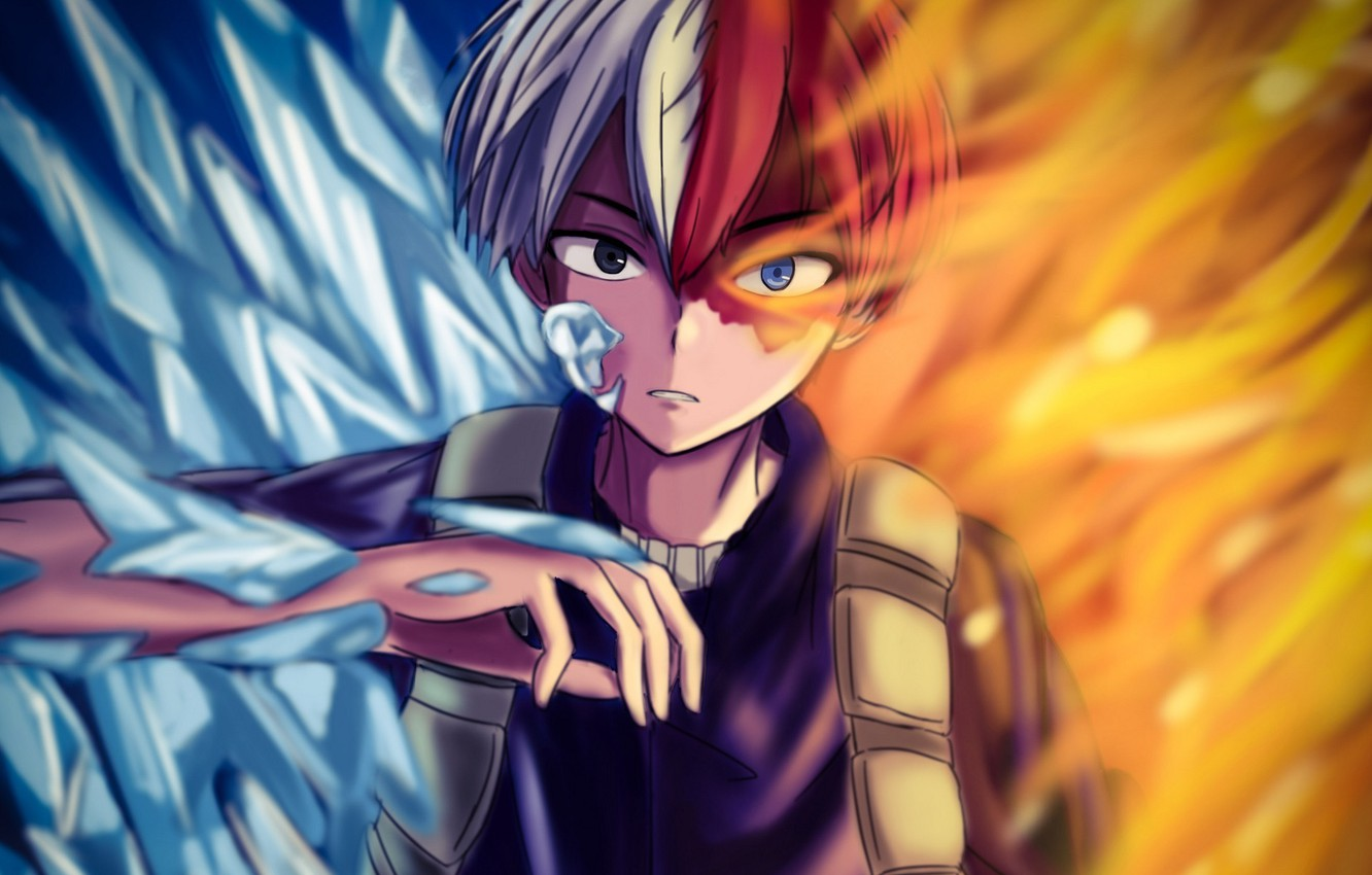 Wallpaper Todoroki Shoto My Hero Academy My Hero Academia Boku