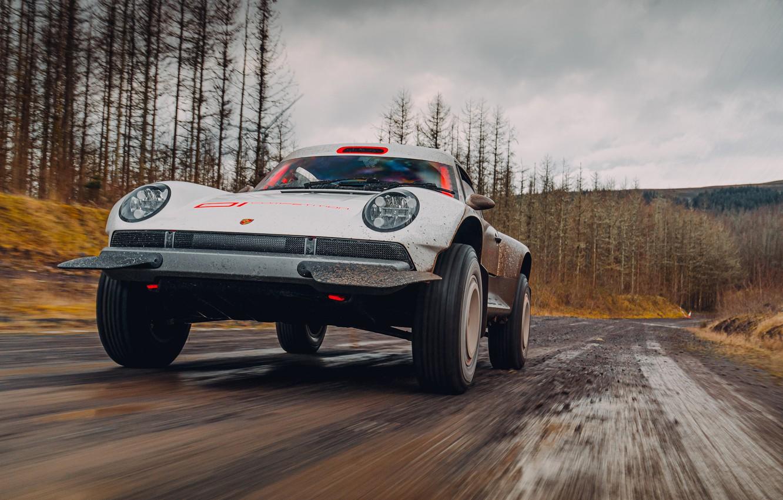 Photo wallpaper road, forest, 911, Porsche, dirt, Singer, acs, 2021, SCRS, All-terrain Competition Study