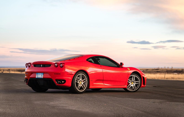 Photo wallpaper road, red, supercar, Ferrari F430, sports car