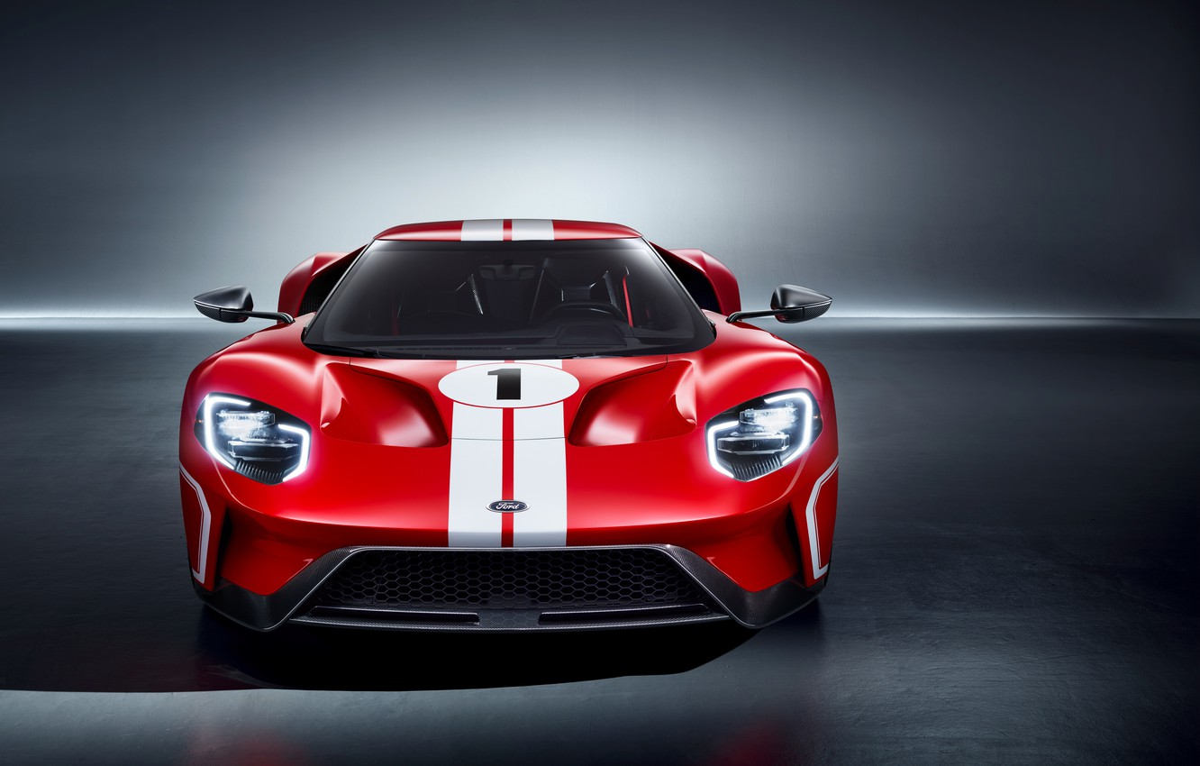 Photo wallpaper supercar, Ford GT, front view, 2018, 67 Heritage Edition