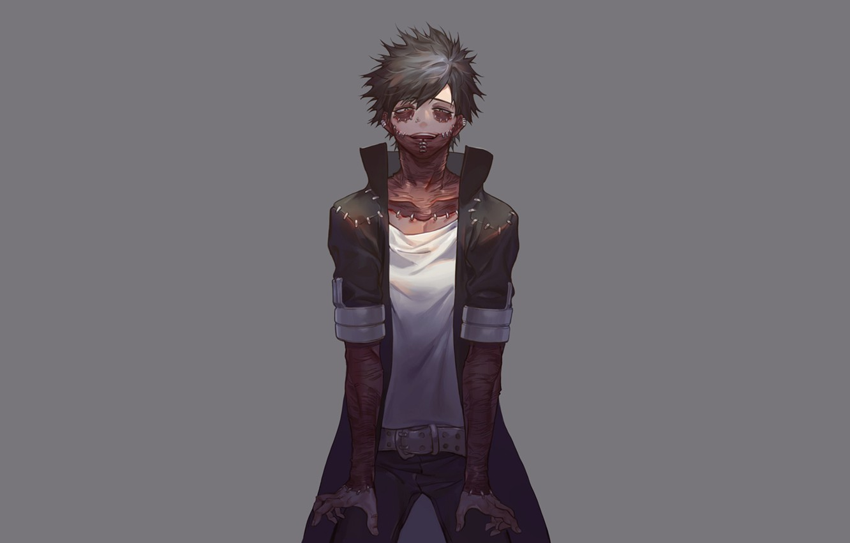 Photo wallpaper background, guy, scars, My hero Academy, Boku No Hero Academy