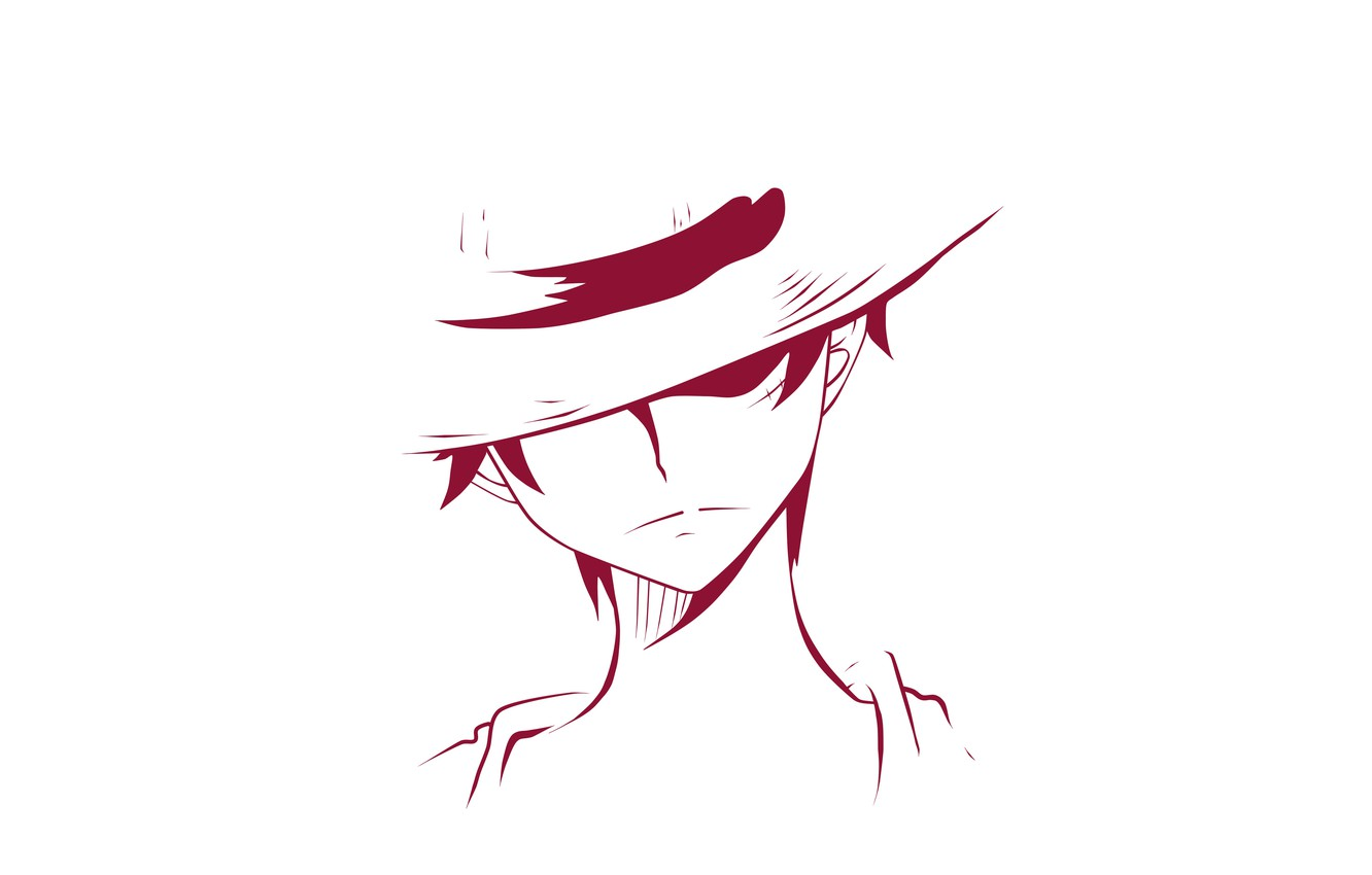 Wallpaper Minimalism Hat Guy One Piece Monkey D Luffy Images For Desktop Section Syonen Download