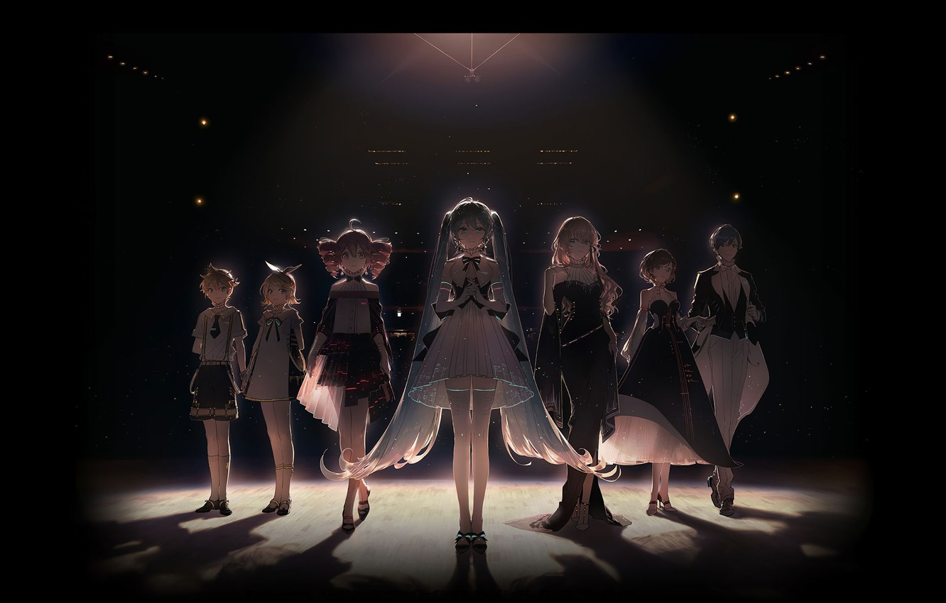 Photo wallpaper Anime, Vocaloid, Characters