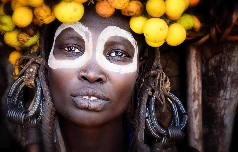 Photo wallpaper style, portrait, ethiopia