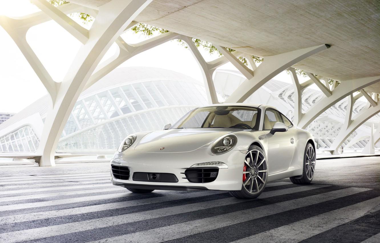 Photo wallpaper Auto, White, 911, Machine, Car, Art, Render, Porsche 911, Design, Supercar, Supercar, Sports car, Sportcar, …