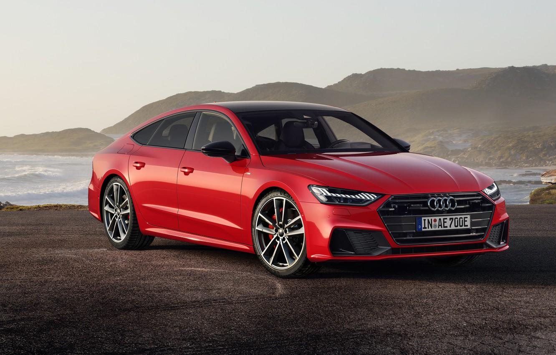 Photo wallpaper Audi, Sportback, TFSI, S line, 2019, A7