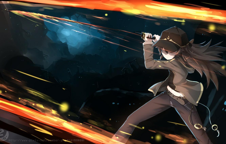 Photo wallpaper fire, sword, anime, art, Pokemon, Pokemon