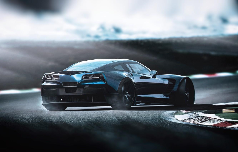 Photo wallpaper Auto, Corvette, Chevrolet, Machine, Chevrolet Corvette, Rendering, Concept Art, Chevrolet Corvette C7, Transport & Vehicles, …