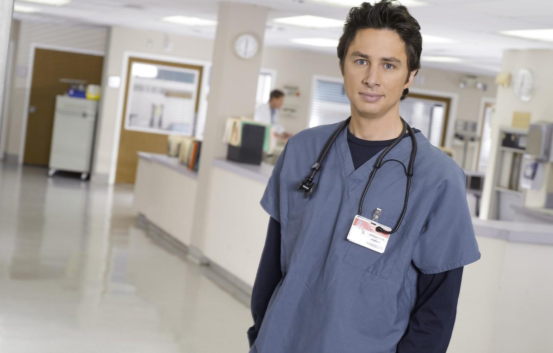 Photo wallpaper look, pose, the series, Scrubs, Zach Braff, Zach Braff, Clinic, John Dorian