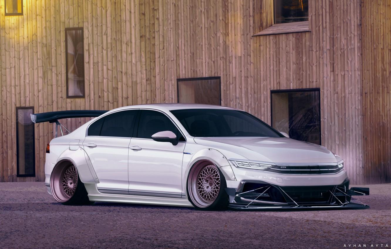 Photo wallpaper Auto, White, Machine, Tuning, Volkswagen Passat, Passat, Transport & Vehicles, Ayhan Aytan, by Ayhan Aytan