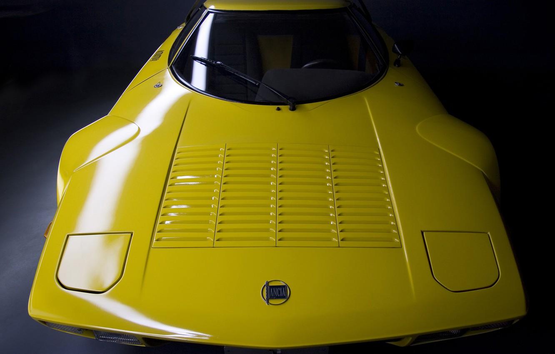 Photo wallpaper Yellow, Rally Car, Lancia Stratos