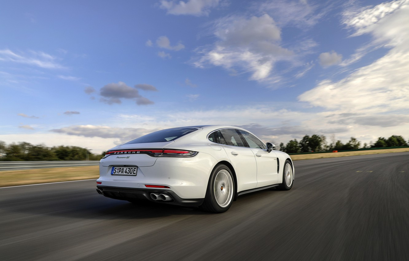 Photo wallpaper Porsche, Panamera, on the track, 2021, Panamera 4S E-Hybrid