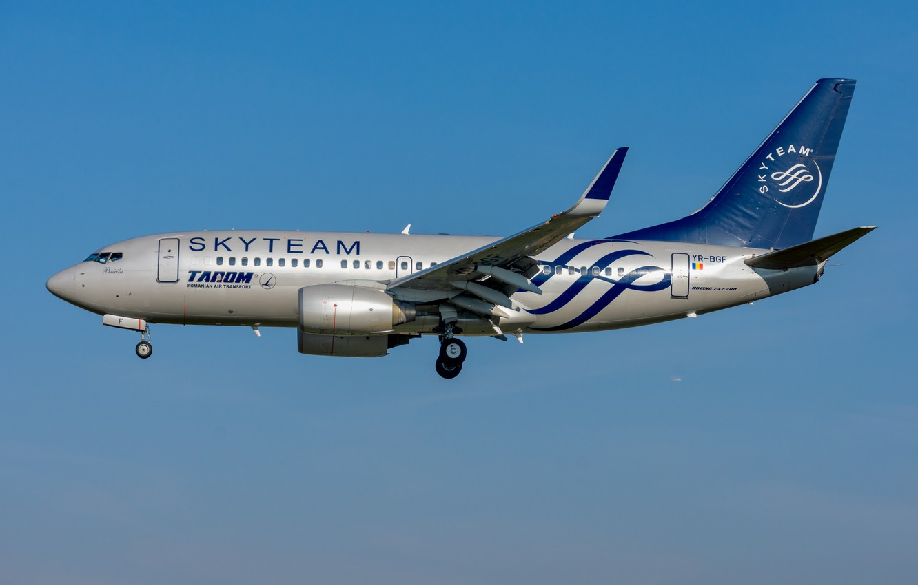 Photo wallpaper Boeing, TAROM Romanian, 737-700W